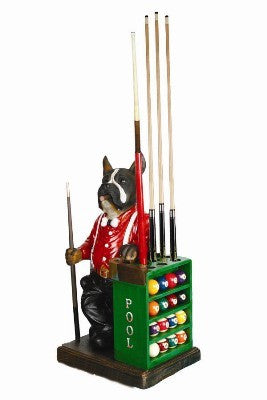 Dog Pool Cue and Ball Holder