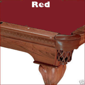 Pro 8' Oversized Proline Classic 303T Teflon Pool Table Felt - Red