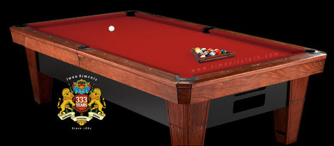 Pro 8' Simonis 860 Pool Table Cloth - Red