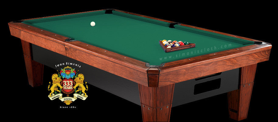 Pro 8' Simonis 860 Pool Table Cloth - Simonis Green