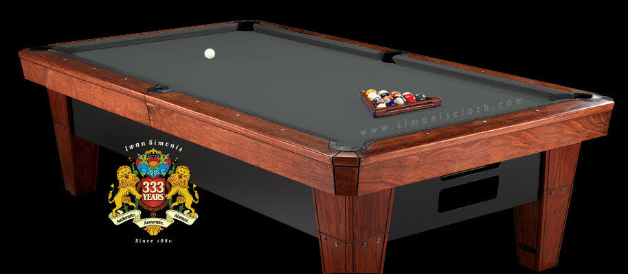 8' Simonis 860 Pool Table Cloth - Slate