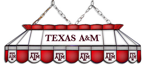 Texas A&M Aggies Stained Glass Pool Table Light
