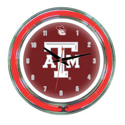 "Texas A&M Aggies 14"" Neon Clock"