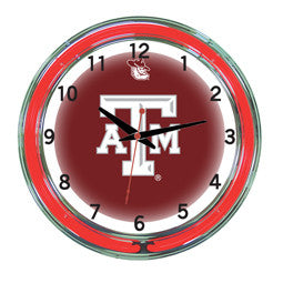 "Texas A&M Aggies 18"" Neon Clock"