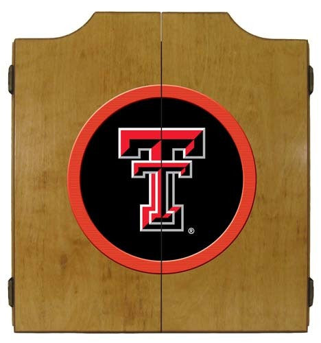 Texas Tech Red Raiders Dartboard Cabinet