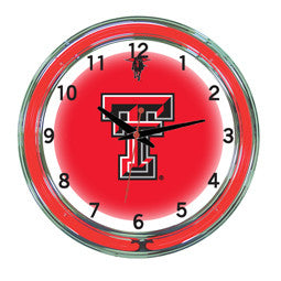 "Texas Tech Red Raiders 18"" Neon Clock"