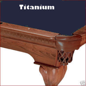 Pro 8' Oversized Proline Classic 303T Teflon Pool Table Felt - Titanium