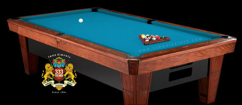 Pro 8' Simonis 860 Pool Table Cloth - Tournament Blue