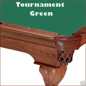 Pro 8' Oversized Proline Classic 303T Teflon Pool Table Felt - Tournament Green