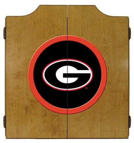 Georgia Bulldogs Dartboard Cabinet