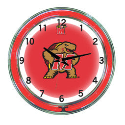 "Maryland Terrapins 18"" Neon Clock"