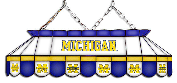 Michigan Wolverines Stained Glass Pool Table Light