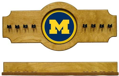 Michigan Wolverines 2-Piece Hanging Cue Rack