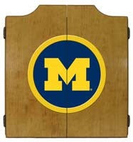 Michigan Wolverines Dartboard Cabinet