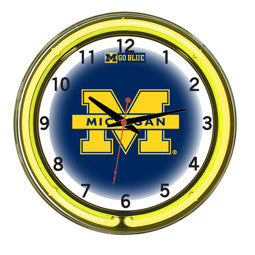 "Michigan Wolverines 18"" Neon Clock"