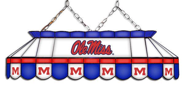 Ole Miss Rebels Stained Glass Pool Table Light