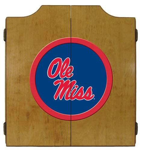 Ole Miss Rebels Dartboard Cabinet