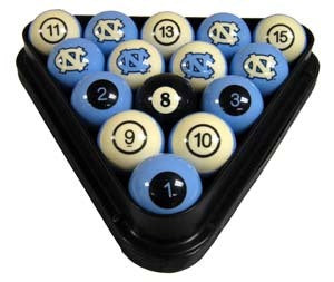 North Carolina Tar Heels Premium Pool Ball Set