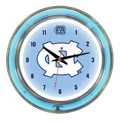 "North Carolina Tar Heels 14"" Neon Clock"