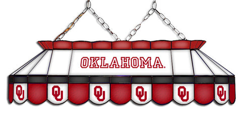 Oklahoma Sooners Stained Glass Pool Table Light