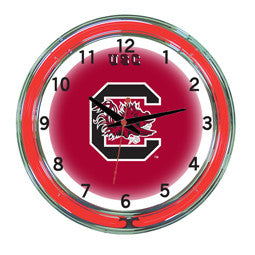 "South Carolina Gamecocks 18"" Neon Clock"