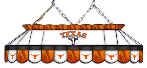 Texas Longhorns Stained Glass Pool Table Light