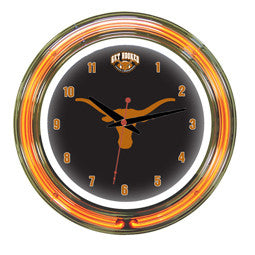 "Texas Longhorns 14"" Neon Clock"