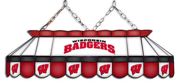 Wisconsin Badgers Stained Glass Pool Table Light