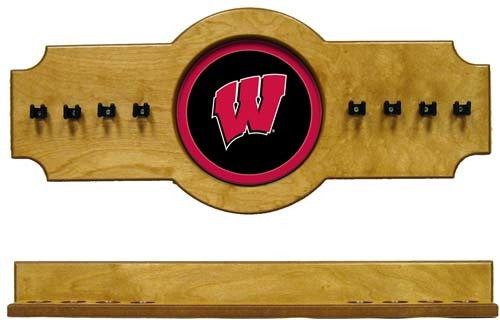 Wisconsin Badgers 2-Piece Hanging Cue Rack