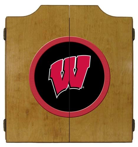 Wisconsin Badgers Dartboard Cabinet