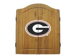 Georgia Bulldogs Dartboard Cabinet Set