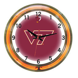"Virginia Tech Hokies 18"" Neon Clock"