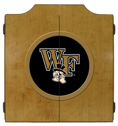 Wake Forest Demon Deacons Dartboard Cabinet