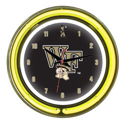 "Wake Forest Demon Deacons 14"" Neon Clock"