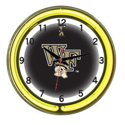 "Wake Forest Demon Deacons 18"" Neon Clock"