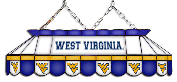 West Virginia Mountaineers Stained Glass Pool Table Light