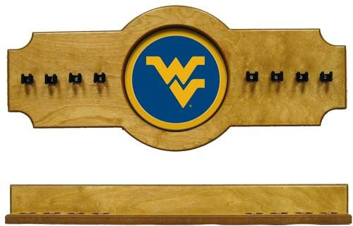 West Virginia Mountaineers 2-Piece Hanging Cue Rack