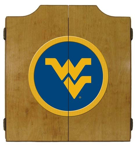 West Virginia Mountaineers Dartboard Cabinet