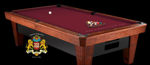 Pro 8' Simonis 860 Pool Table Cloth - Wine