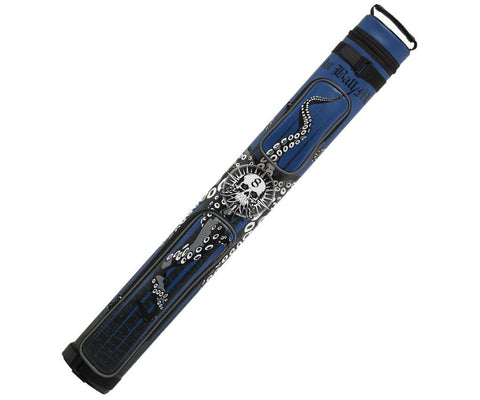 Eight Ball Mafia EBMC22J 2Bx2S Blue, Black Billiards Pool Cue Stick Case