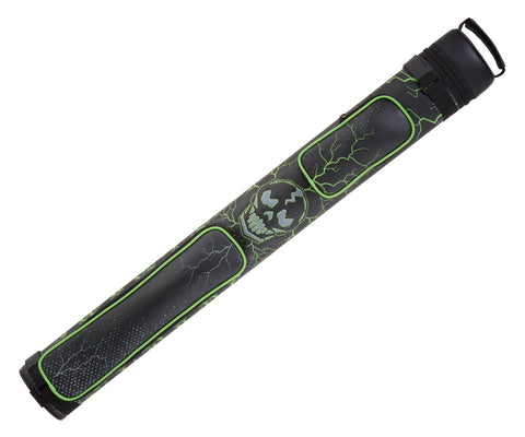 Eight Ball Mafia EBMC22K 2Bx2S Black with Green and White Design Accents Billiards Pool Cue Stick Case