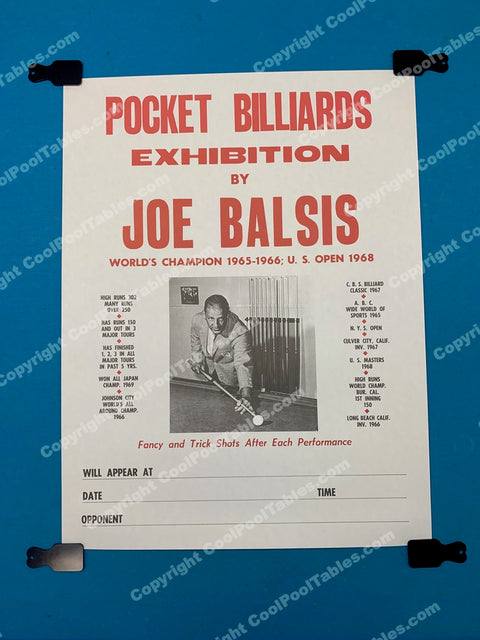 Billiard Poster - Joe Balsis