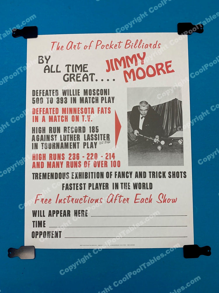 Billiard Poster - Jimmy Moore