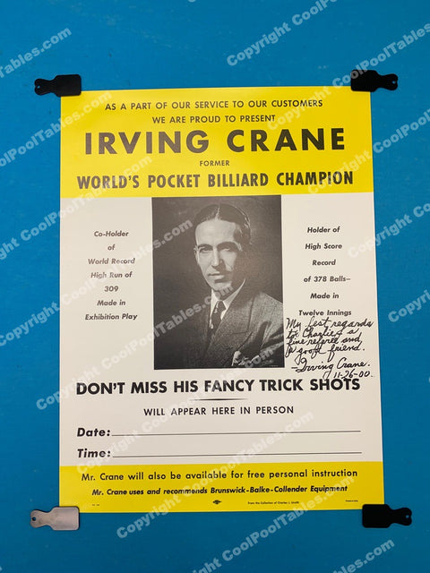 Billiard Poster - Irving Crane