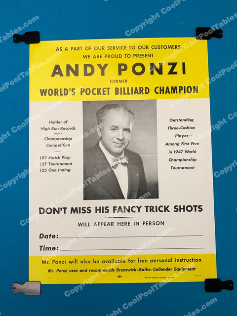 Billiard Poster - Andy Ponzi