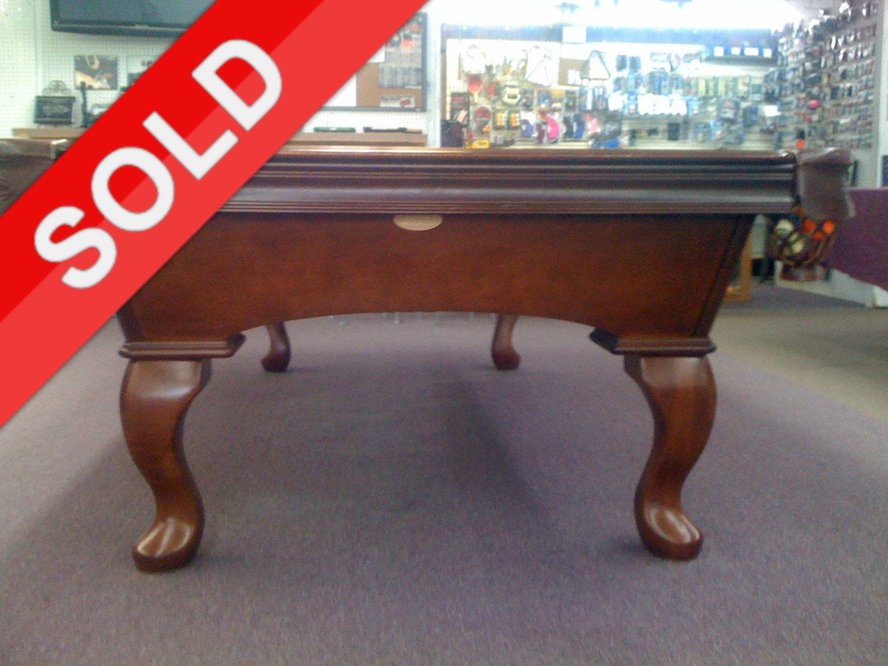 SOLD Used Olhausen Furniture Style Pool Table With Triple - Pool table pocket shims