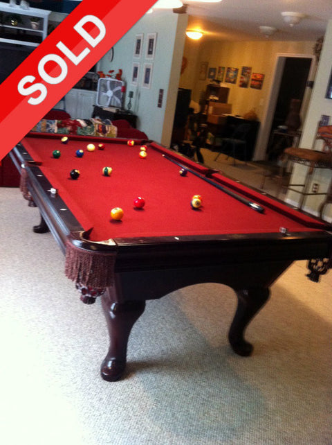 Used 8' Brunswick Bradford Pool Table