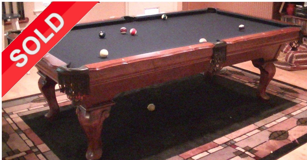 (SOLD) 8' Used Dark Cherry Gandy Pool Table