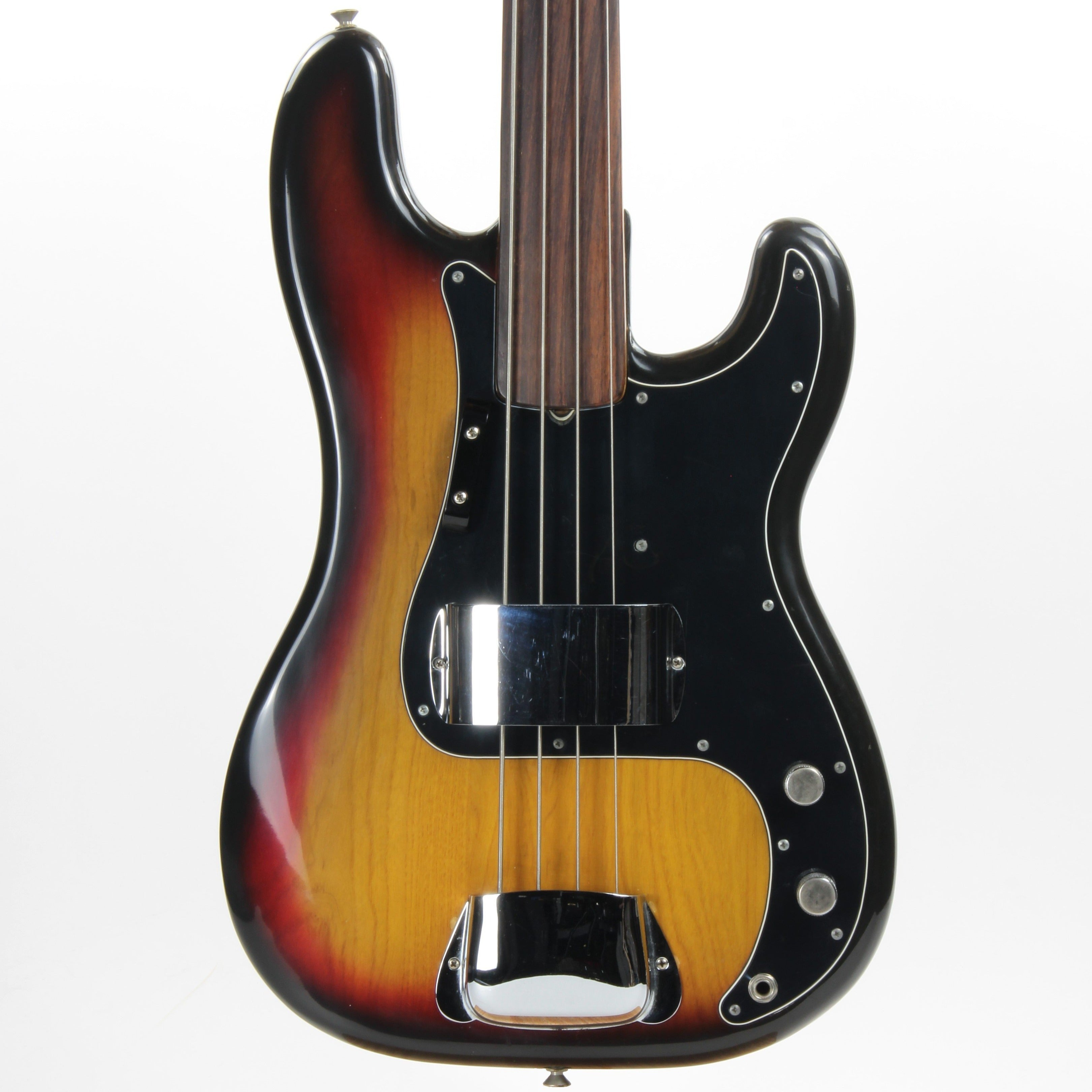 1975 Fender Precision Bass Fretless Vintage - Sunburst, Rosewood Board, Clean P-Bass!
