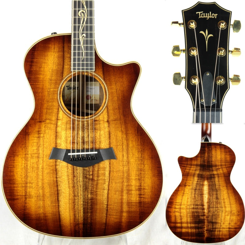 2018 Taylor K24CE ALL KOA Grand Auditorium V-Class Bracing Shaded Edgeburst Sunburst